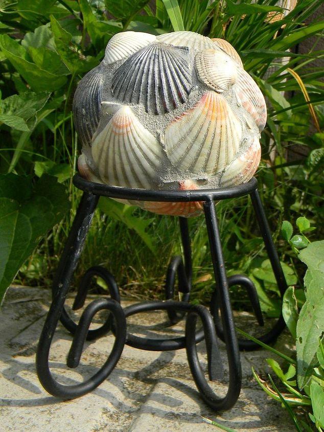 Mini Gazing Ball with Seashells