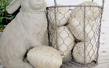Jute Wrapped Basket Filler Eggs