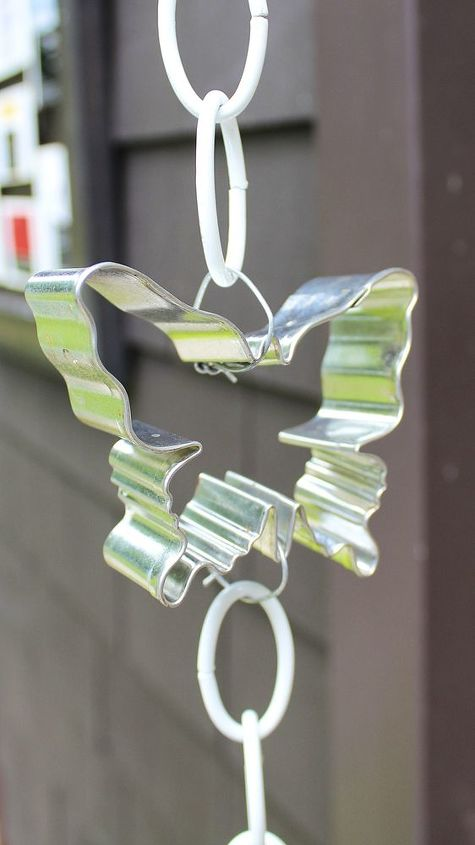diy cookie cutter rain chain, gardening, repurposing upcycling