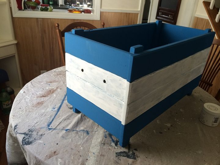 toy box painted salvage, painted furniture