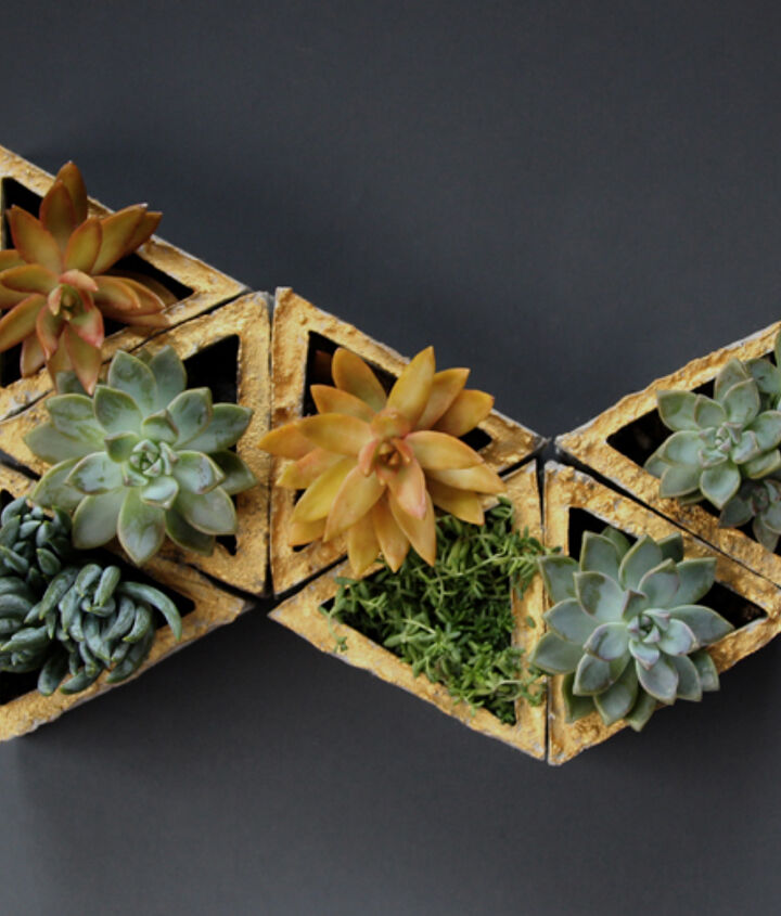 make your own concrete living wall planters easy diy tutorial, concrete countertops, crafts, diy, flowers, gardening, succulents