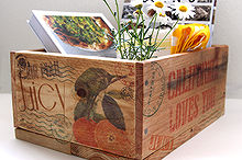 make pallet wood crates transfer ink jet image with wax paper, diy, storage ideas, woodworking projects