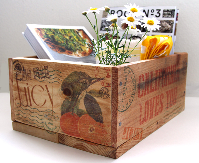 Make pallet wood crates transfer on an image with wax paper hometalk make pallet wood crates transfer ink jet image with wax paper diy storage ideas mightylinksfo