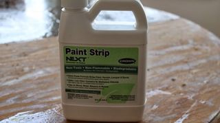 properly painted table top, home decor, painted furniture, This is the stripper I used purchased at Home Depot