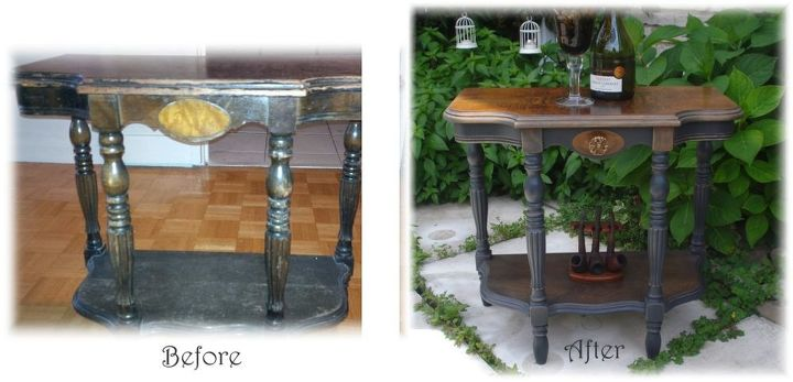 inspired elegant antique demi table eleanor, painted furniture