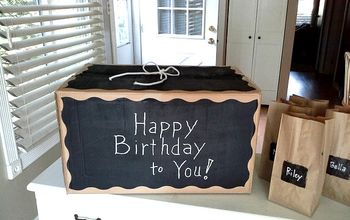 DIY Gift Box With Chalkboard Paint