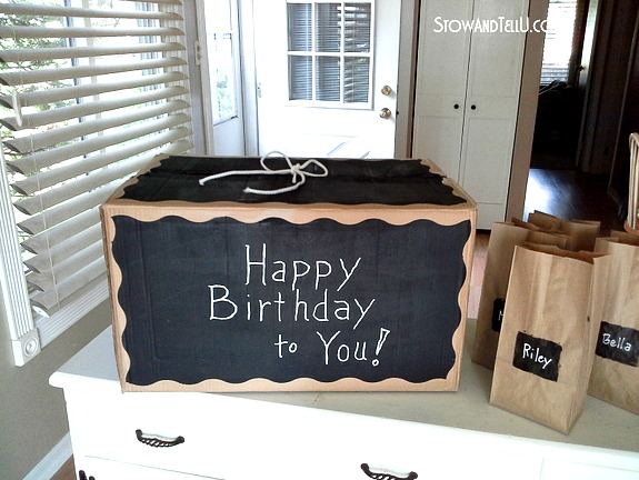 Chalkboard Paint Gift Box Budget Crafts