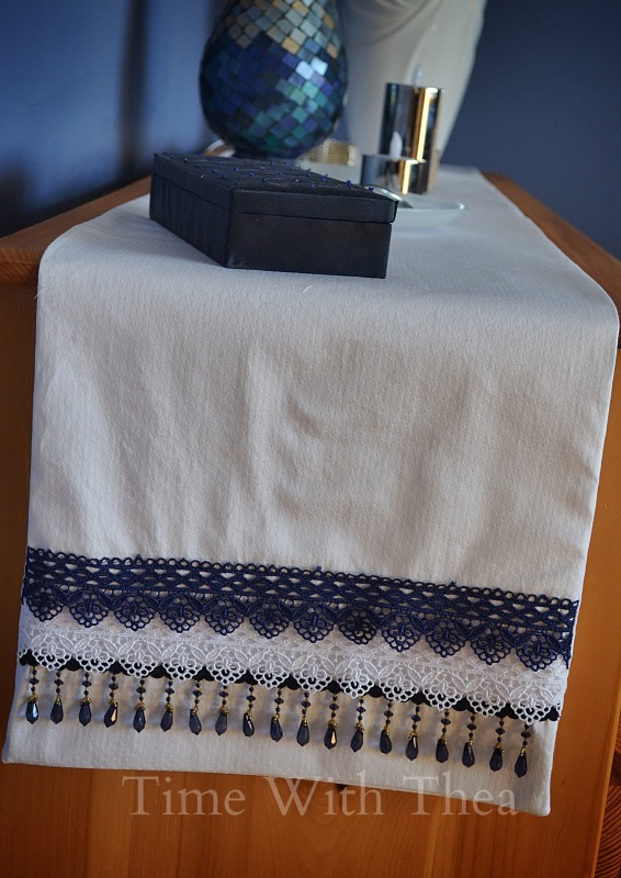 diy runner easy sew beaded, crafts, home decor