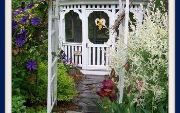 gardening arbor gates entrance lush, curb appeal, fences, flowers, gardening, landscape, repurposing upcycling