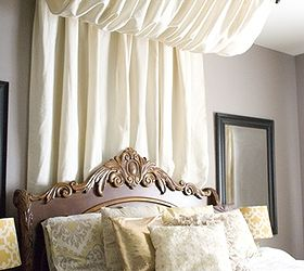 Diy No Sew Table Cloth Bed Canopy Tutorial, Bedroom Ideas, Diy, How To
