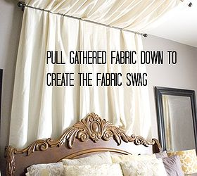 diy no sew table cloth bed canopy tutorial bedroom ideas diy how to : material canopy bed - memphite.com