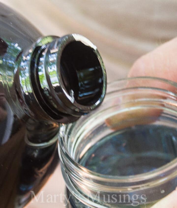 mason jar bug repellent candle, mason jars, outdoor living, repurposing upcycling