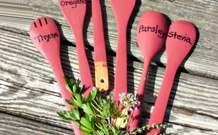 gardening decor kitchen utensils, container gardening, crafts, gardening, repurposing upcycling