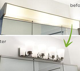 Bathroom Remodel Light Fixture Switch, Bathroom Ideas, Diy, Electrical,  Lighting, Painting