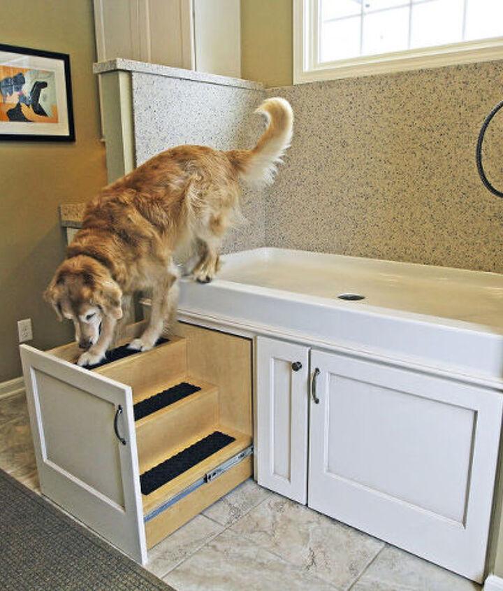 kitchen remodel with a dog washing station, foyer, home improvement, kitchen design, pets animals