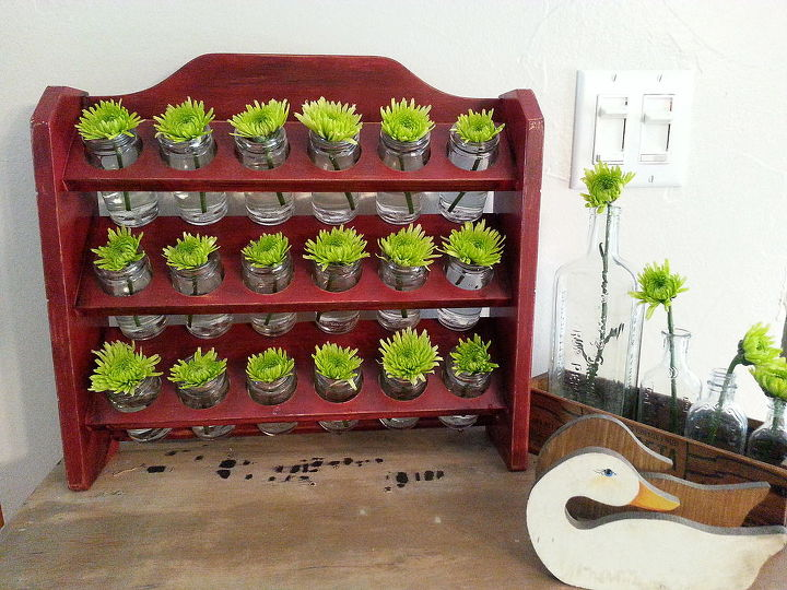 spice rack to mini flower vases, gardening, repurposing upcycling