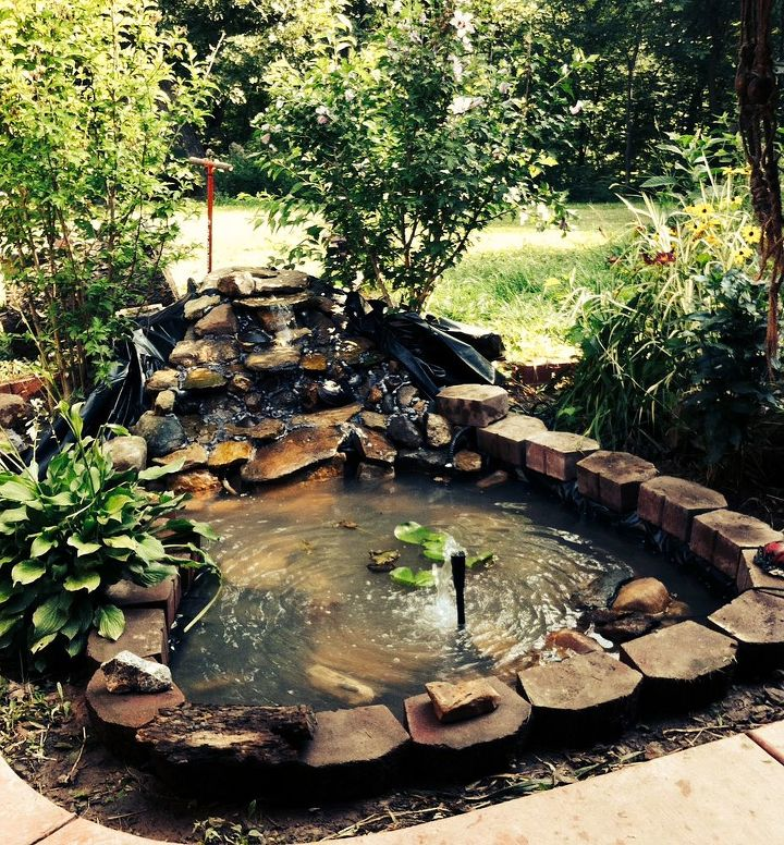 pond hand made backyard project, diy, ponds water features