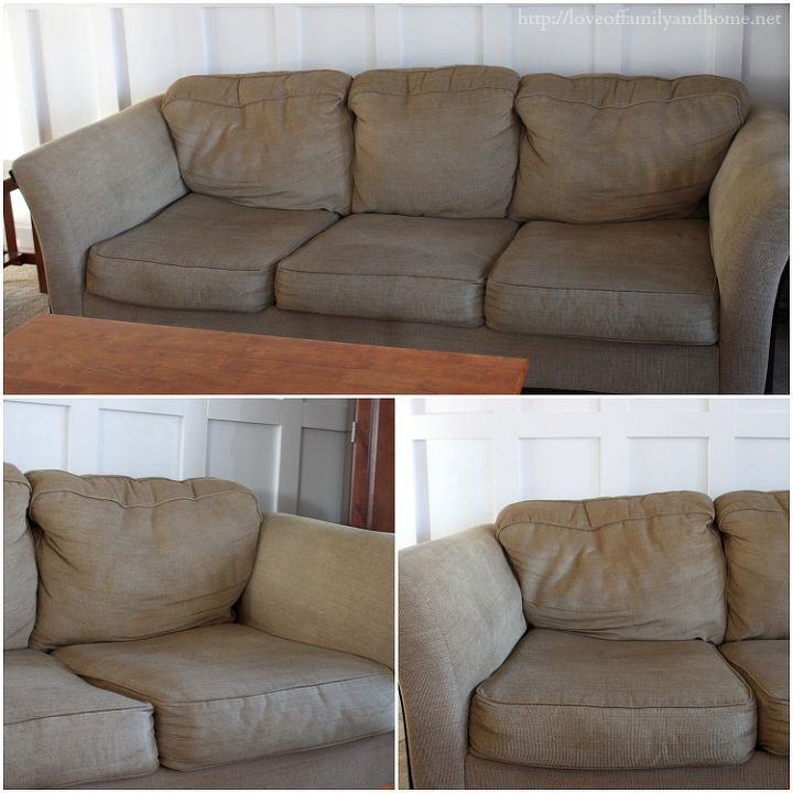 How To Make A Saggy Sofa Look Brand New Home Maintenance Repairs Painted Furniture
