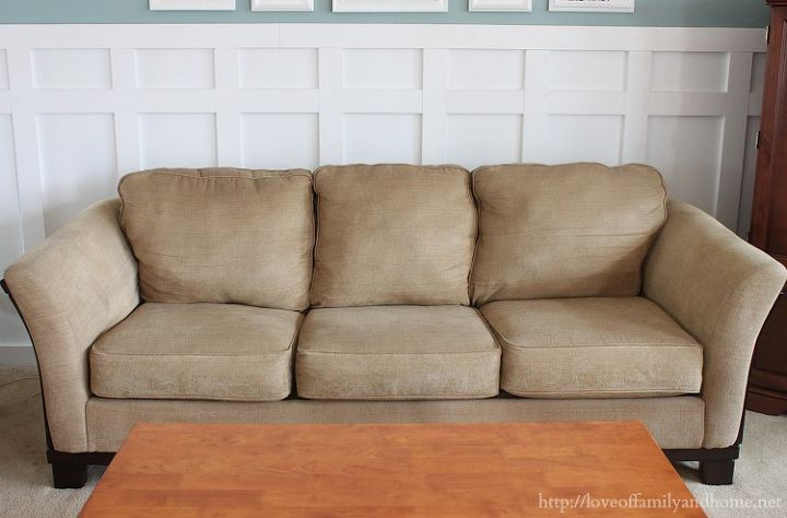 how to make a saggy sofa look brand new, home maintenance repairs, painted furniture