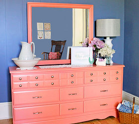 Painted Furniture Dresser Coral, Painted Furniture