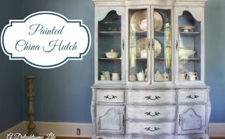 china hutch makeover, painted furniture