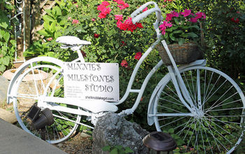 Vintage Bicycle Garden Art