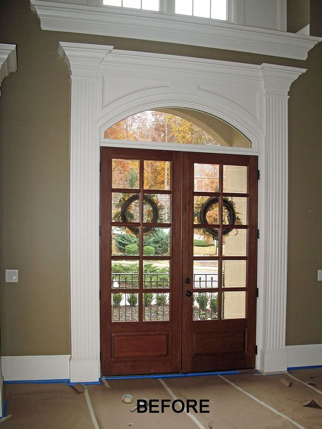 foyer entryway grand staining, doors, foyer, home decor, painting, windows
