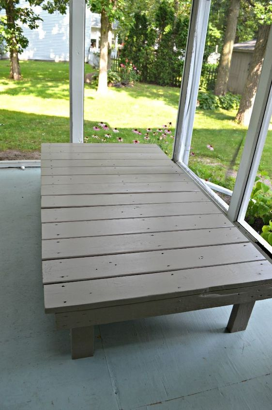 patio furniture daybed playground wall repurpose, diy, outdoor furniture, outdoor living, painted furniture, porches, repurposing upcycling, woodworking projects