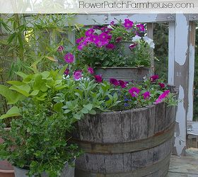 Gardening Planters Wine Barrel Bucket, Container Gardening, Gardening,  Repurposing Upcycling