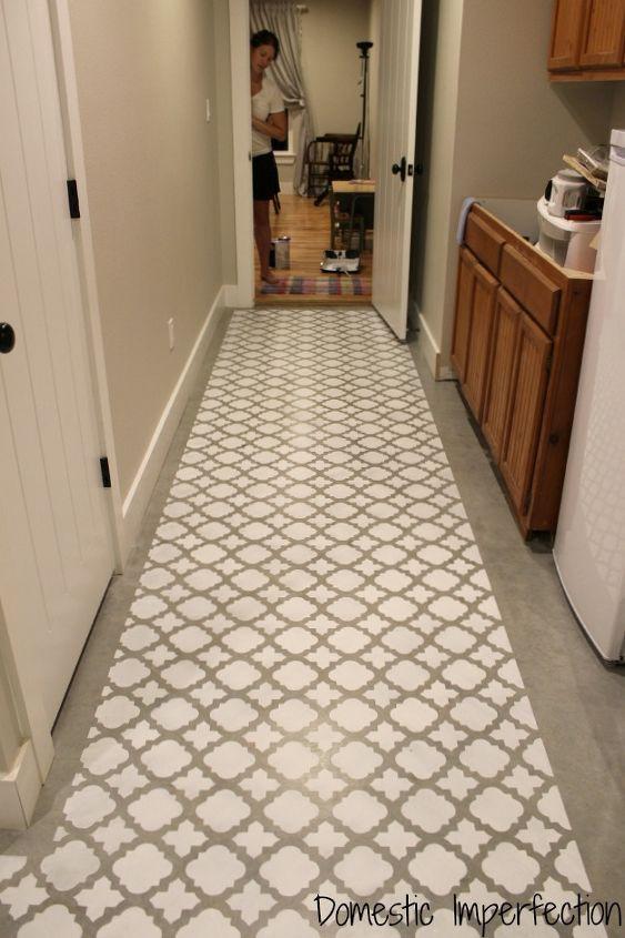 Stenciling A Cement Floor Hometalk