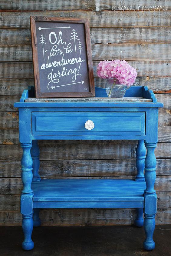 Chalk Paint Table Pallet Custom Blue Painted Furniture Repurposing