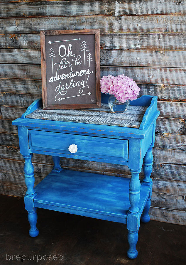 Blue Chalk Painted Table With Pallet Top Hometalk