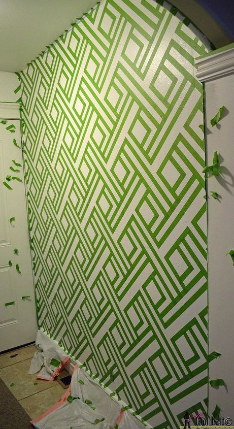 DIY Modern Wall Design With Painters Tape | Hometalk