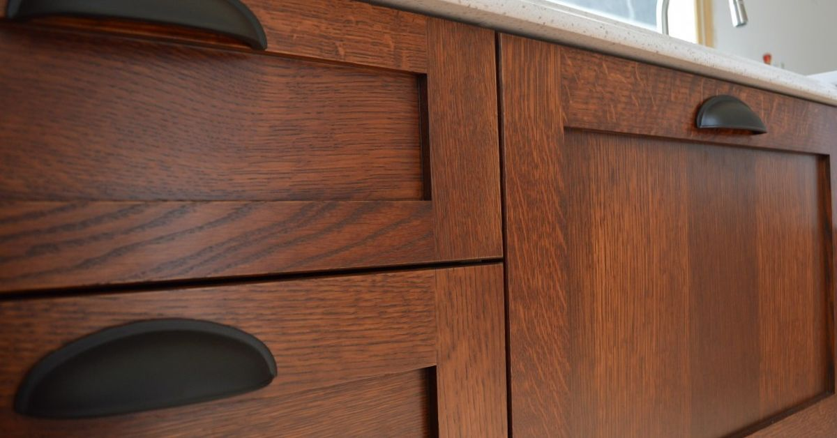 Staining Kitchen Cabinets At Home Hometalk