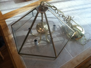chandelier restoration hardware orb knockoff, lighting, repurposing upcycling