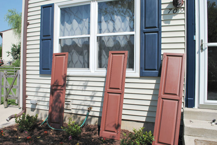 easy shutter makeover improving curb appeal, curb appeal, diy, how to, paint colors, painting