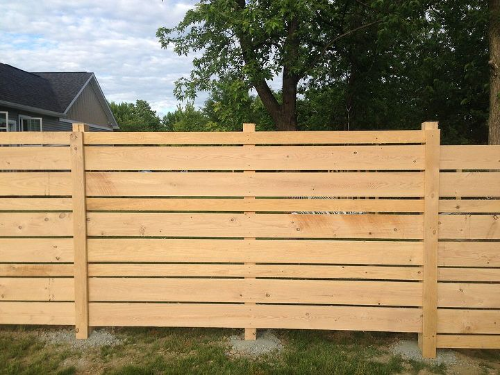 Diy Wooden Backyard Fence Hometalk