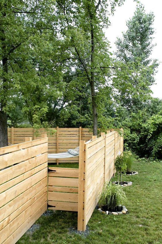 Diy Wooden Backyard Fence Hometalk