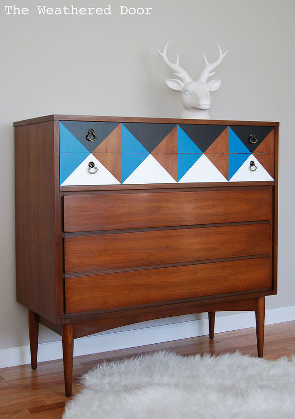 painted furniture dresser geometric mid century  painted furniture. Painted Geometric Mid Century Dresser   Hometalk