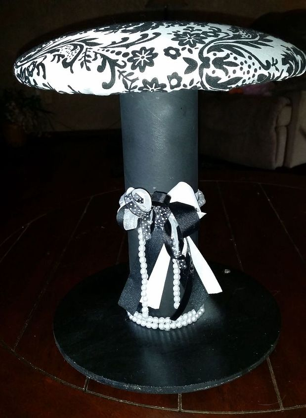 i started making stools from empty cable spools, diy, repurposing upcycling, reupholster