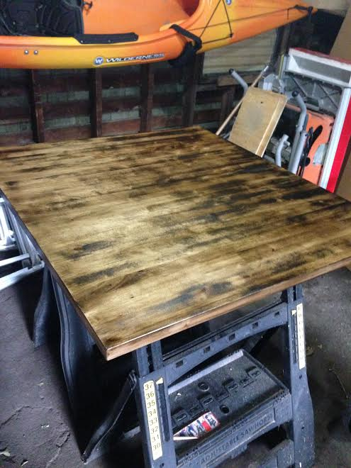 q staining birch evenly, painted furniture, woodworking projects, Uneven stain on birch wood and not sure how to fix to get an even finish Suggestions