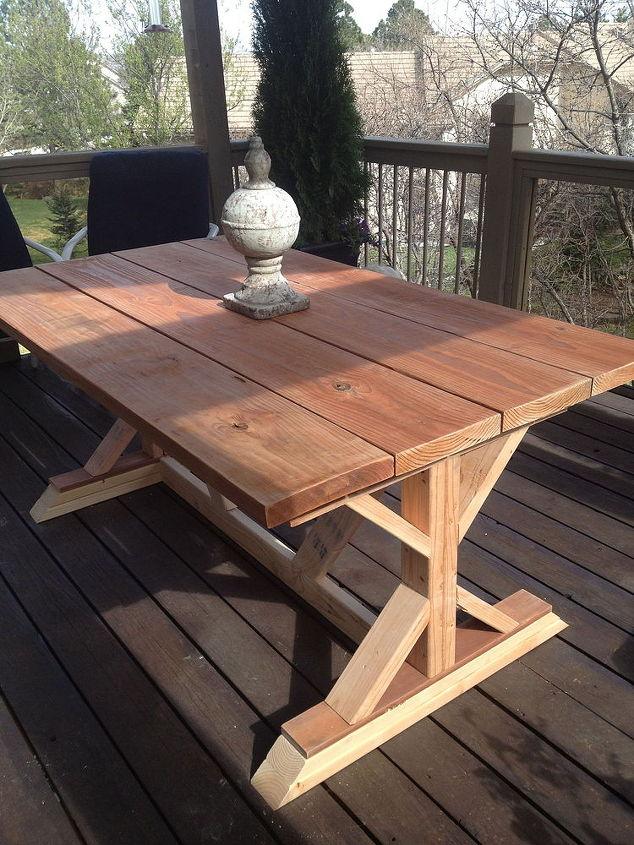 Budget Restoration Hardware Outdoor Table Replica | Hometalk