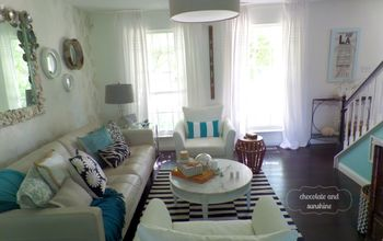 Beach-Inspired Living Room Updated at Minimal Cost!
