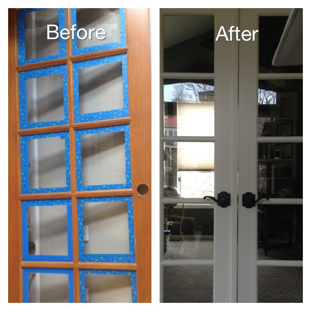 doors home office painted redo, diy, doors, painting, woodworking projects