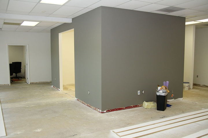 Walls Primed and Painted