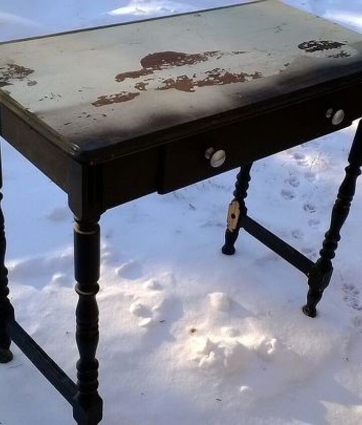 road rescue side table, painted furniture