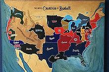painting art baseball united countries, bedroom ideas, wall decor, My Version Hand painted