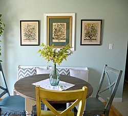 wall art botanical prints, dining room ideas, home decor, repurposing upcycling, wall decor