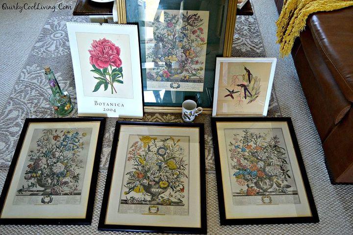 Wall Art Botanical Prints Dining Room Ideas Home Decor Repurposing Upcycling