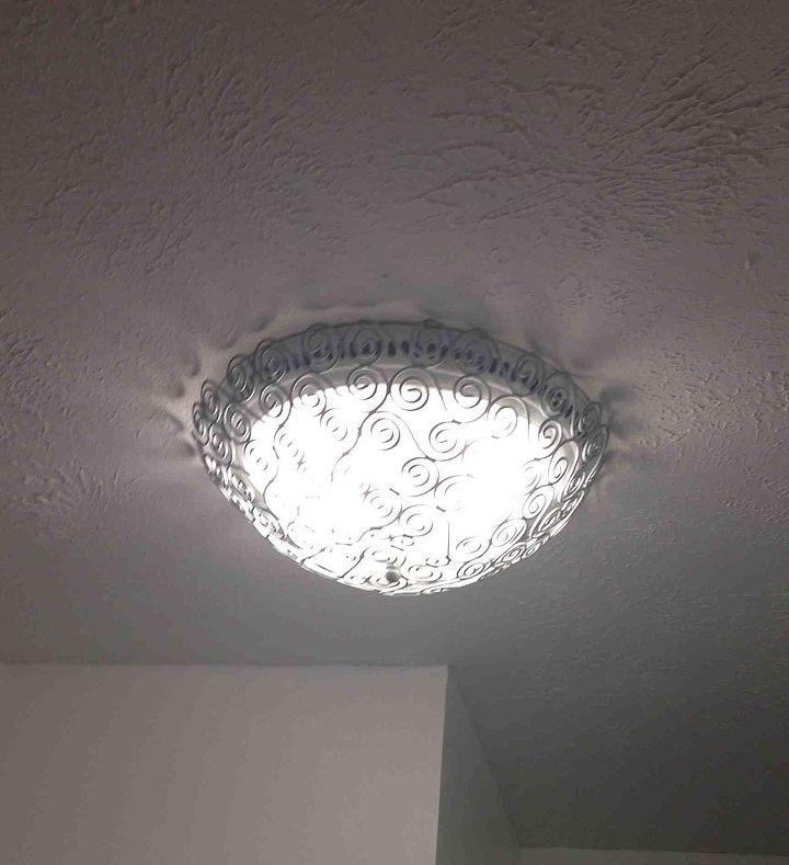 diy light cover decor redo, lighting, repurposing upcycling